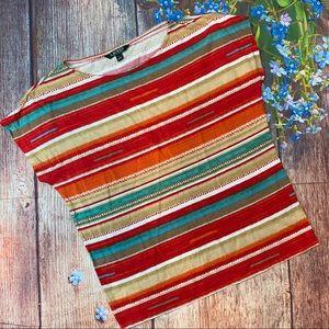 Lauren Ralph Lauren Multicolored Striped T-shirt L